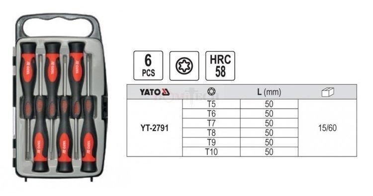 908dc95d263670 Yato YT-2791 Zestaw wkrętaków precyzyjnych torx 6szt. - Narzędzia ...