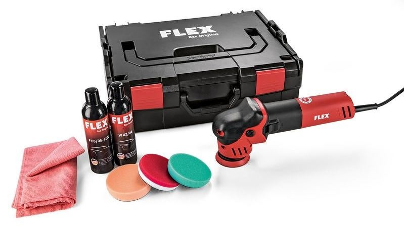 FLEX 447137 Polerka kątowa 700W XFE 7-12 80 mm set